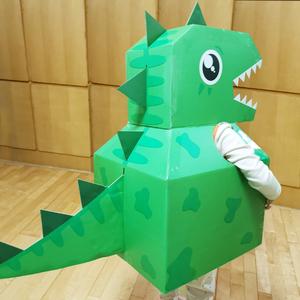 纸板纸箱恐龙玩具手工拼装可穿戴纸