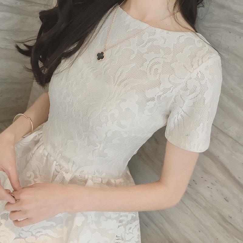 2021夏季新款白色洋装小礼服名媛宴会气质短款晚礼服裙仙气连衣裙