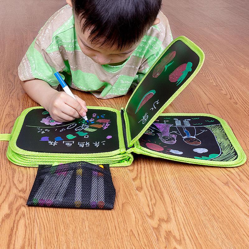 画画板儿童涂鸦宝宝小孩小黑板家用写字板可擦写水绘画本玩具神器
