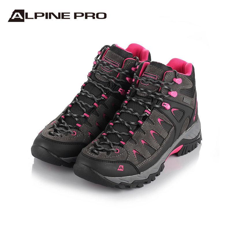 Alpini [new] outdoor mountaineering shoes mens and womens spring and autumn high top anti-skid leather outdoor cross-country shoes