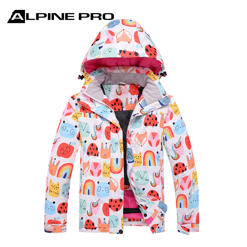 Alpini childrens freestyle skiing suit: warm, thickened, windproof, waterproof, lovely snow country coat