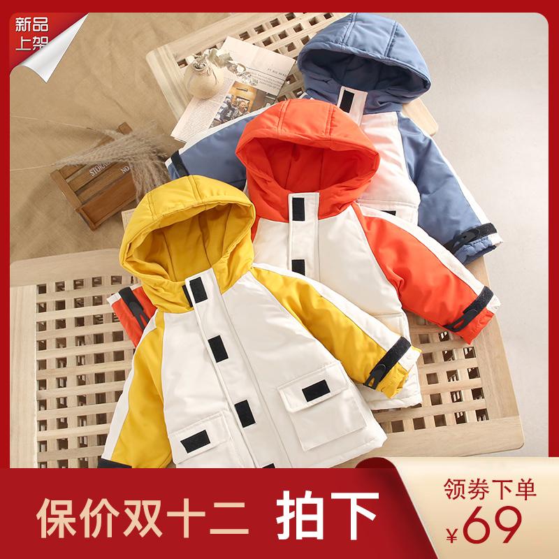 2019新款儿童工装棉袄冬装洋气女童宝宝羽绒棉服男童棉衣婴儿外套