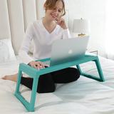宜家床桌电脑床上桌上铺宿舍移动学习可折叠小桌子家用懒人飘窗用