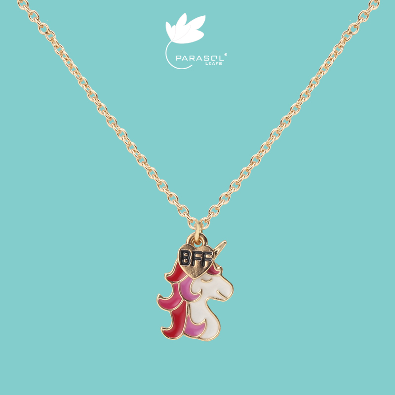Necklace female lovely sweet super cute pendant Girl Jewelry Unicorn clavicle chain ins fashion sense of minority design