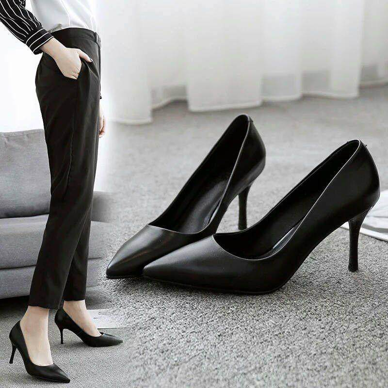 Work shoes womens high heel business Korean comfort heightening creative shopping mall New Girls thin style initiation ceremony