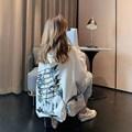 超火 卫衣女春秋韩版中长款慵懒风薄款外套ins潮学生宽松上衣服