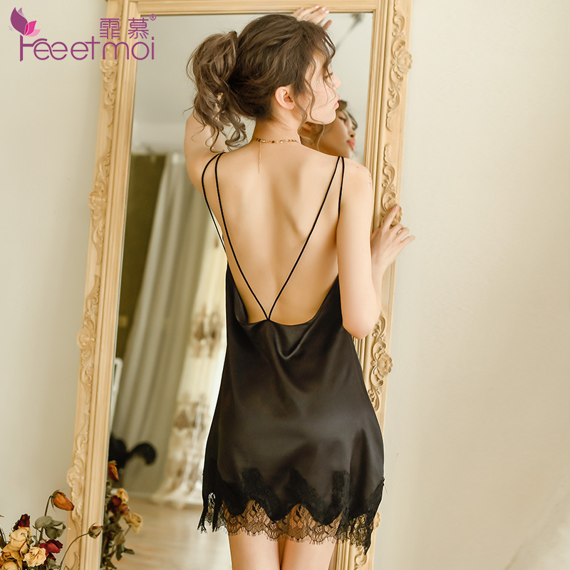 The dirty clothes of YUEYE House Bunny new vacuum super thin ice silk Mini Skirt
