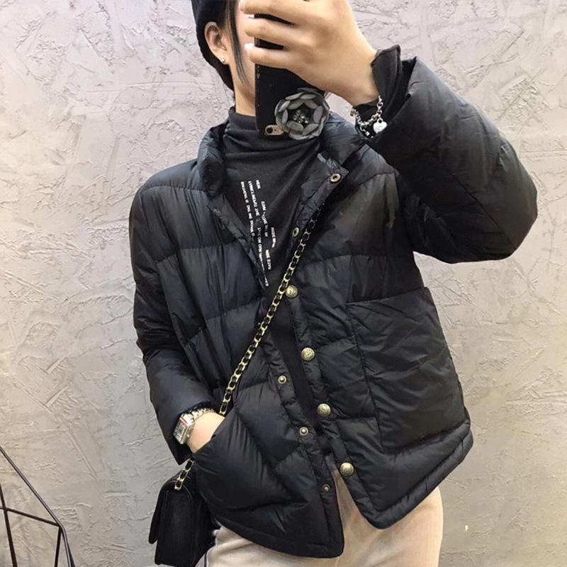 黑色小个子轻薄羽绒服女短款时尚外套欧货潮2020年新款冬季欧洲站