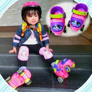 旱冰轮滑鞋3岁男童滑冰女宝宝溜冰初学者玩具2冰鞋男套装女童儿童