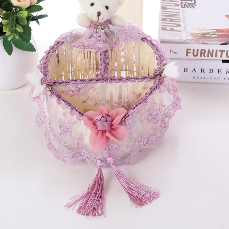Storage box basket cloth art rattan basket desktop Longwo grass Willow knitting remote control cosmetic storage basket box