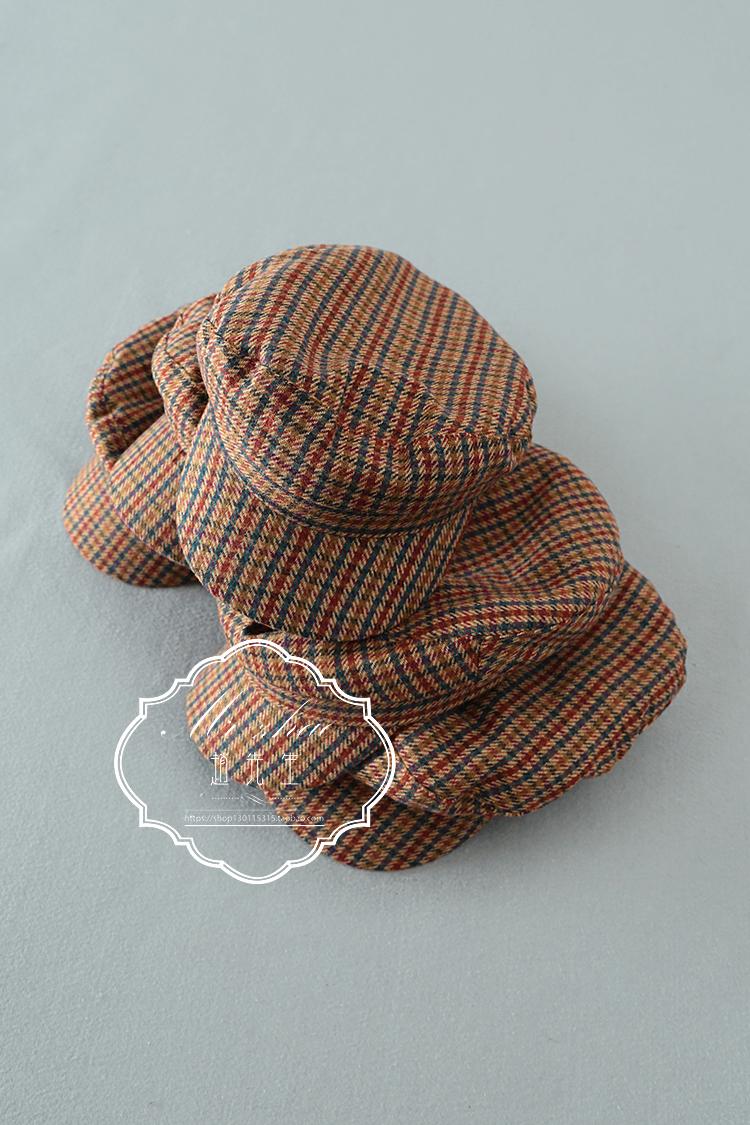 Z1212-04 autumn and winter modeling warm cotton clip British retro style soft cloth Beret painter hat Art