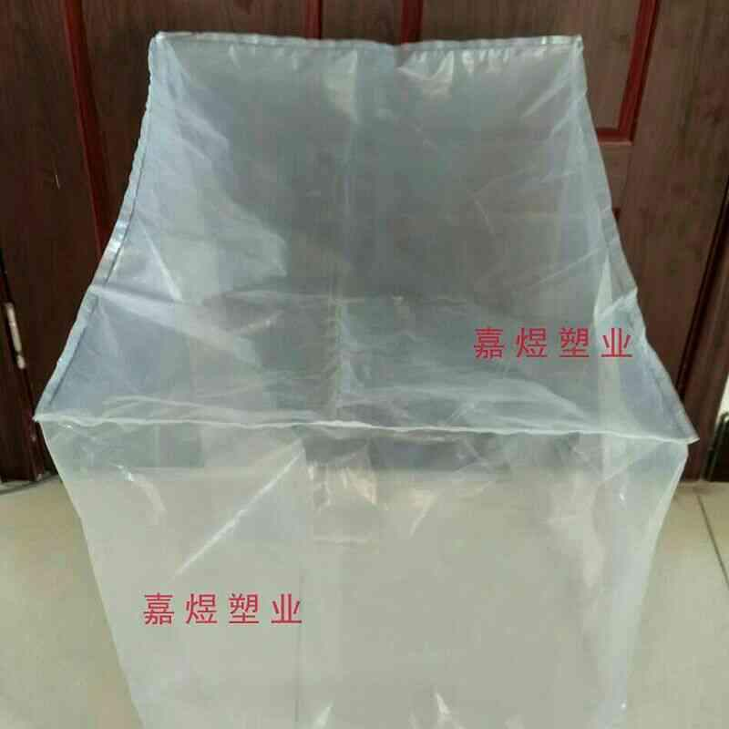 Customized large plastic bag machine tray cover packing bag dust bag lining bag square bottom stereo bag