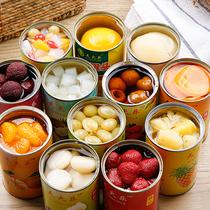 新鲜水果罐头混合6罐12罐每罐425克黄桃罐头梨菠萝什锦草莓杨梅