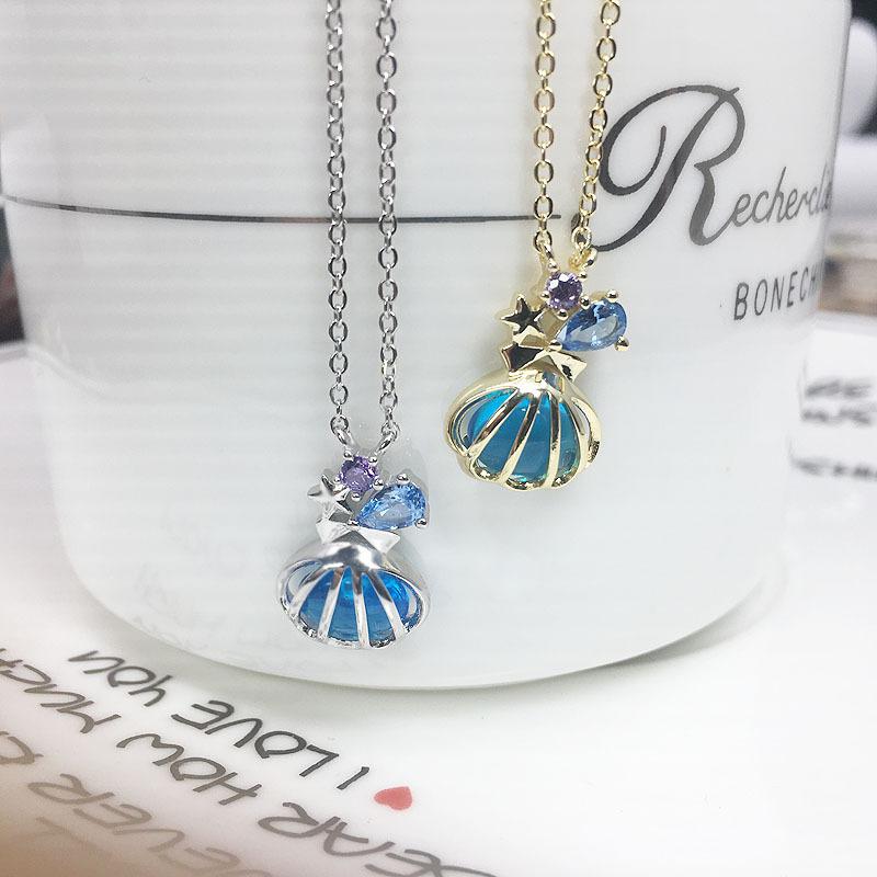 日系扇形项链 take up jewelry小美人鱼系列吊坠项链 简约清新女