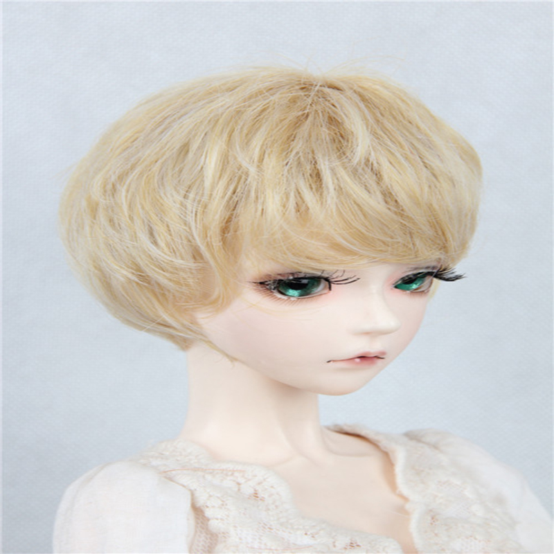 BJD baby wig golden curly short hair collection hot wire 1 / 3 1 / 4 1 / 6, 11 colors from stock