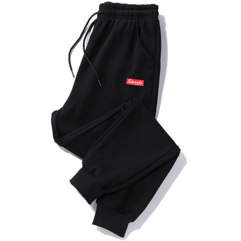 加大码运动裤子男收口卫裤胖子宽松小裤