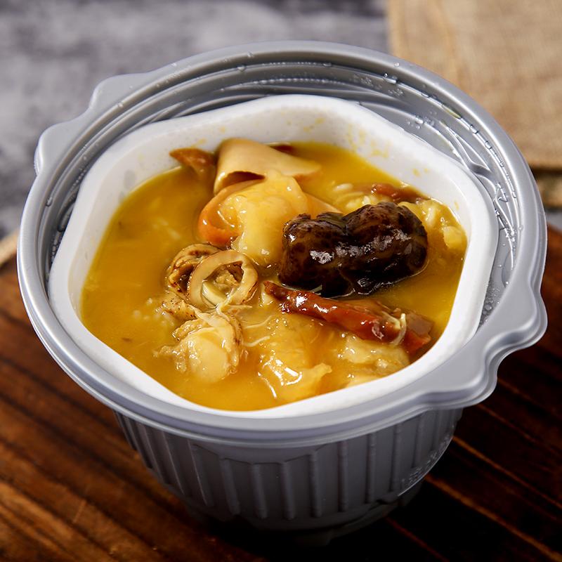 鲜都邦自热捞饭鲍汁佛跳墙自热米饭加热即食速食菜方便米饭
