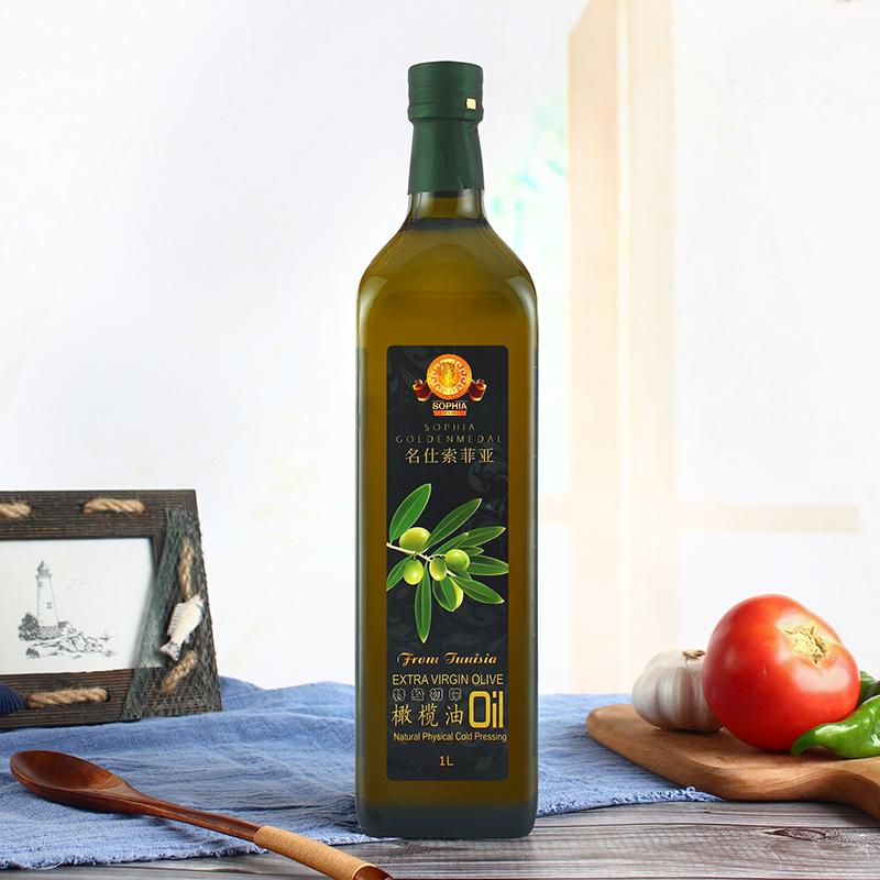 Original Tunisian bottle imported Sophia Extra Virgin Olive Oil 1L physical cold pressing