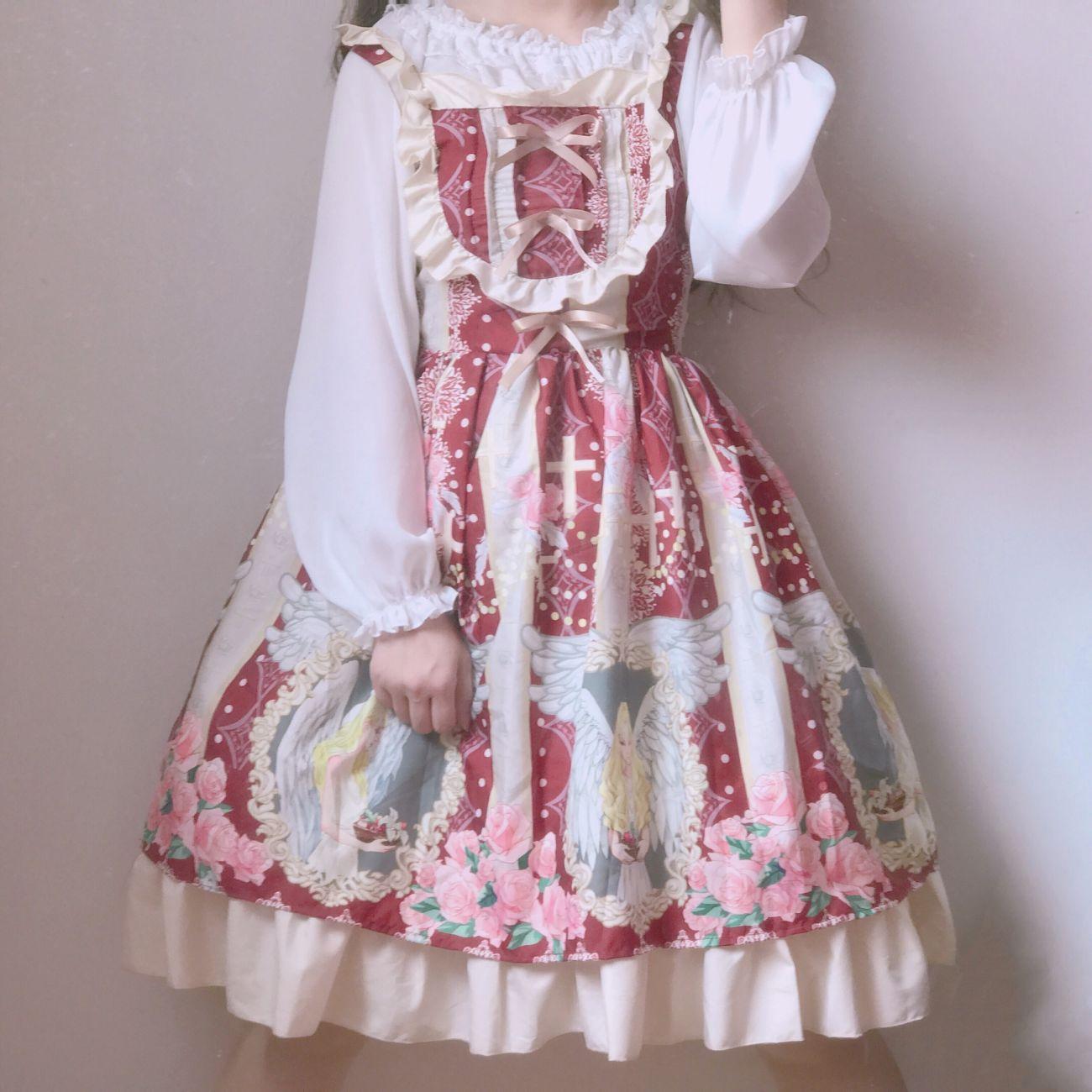 洛丽塔裙子女2019夏季新款lolita公主裙吊带裙中长款吊带连衣裙女