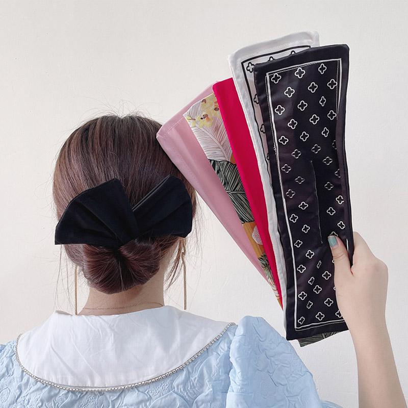 懶人扭扭夾盤發器2021新款發插蝴蝶結頭飾發飾女夏丸子頭盤發神器