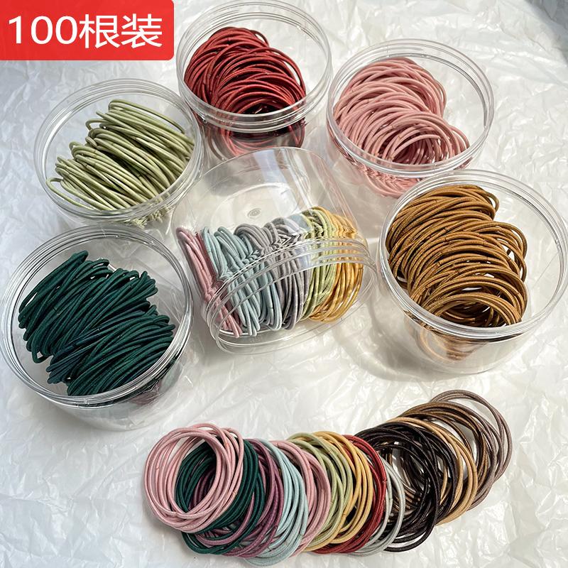 韩版网红基础头绳简约时尚气质发绳单股百搭高弹力橡皮筋马尾发圈