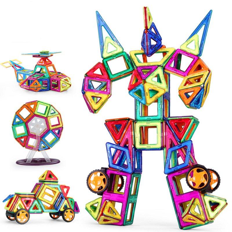 券后112.00元方块磁力片积木男孩女孩遥控拼接幼儿科技搭建拼图模型拆装教育