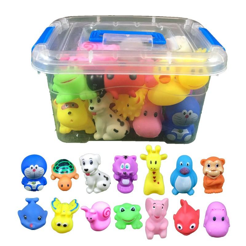 宝宝冼澡洗澡玩具小黄鸭游泳玩具(用14.61元券)