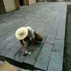 复古天然青石板别墅庭院子广场室外公园路面防滑防冻户外花园地砖