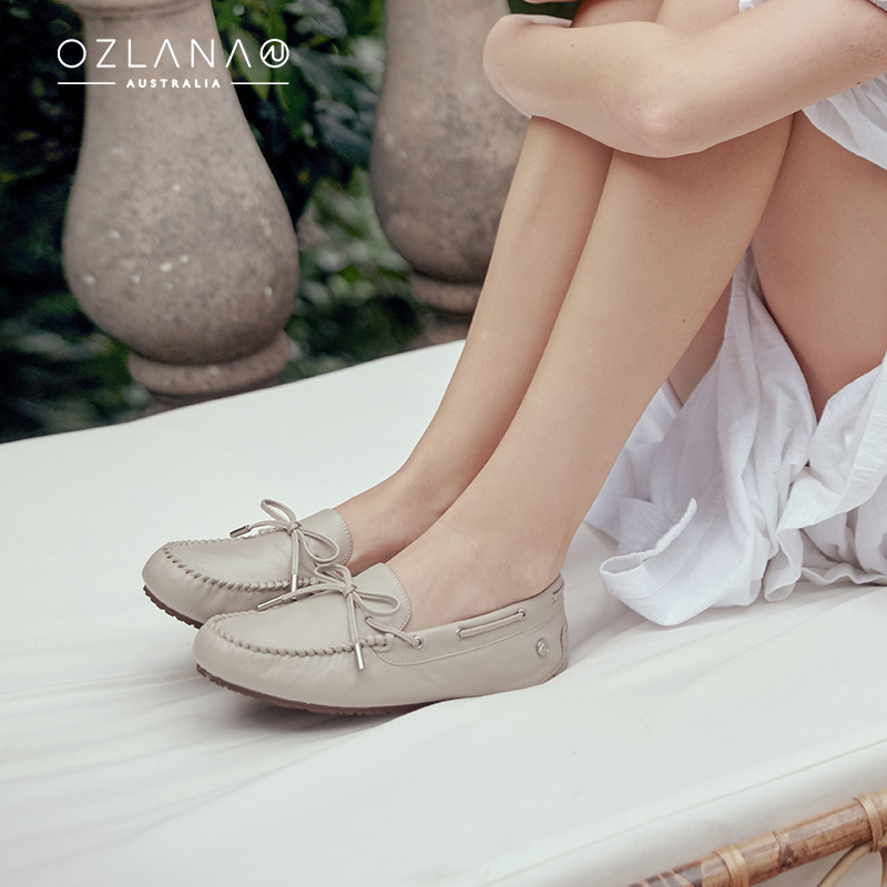 Ozlana2020 spring and summer new womens shoes waterproof versatile flat shoes with increased beans inside