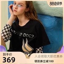 Ozlana2020夏新款纯棉乐一通兔巴哥联名短袖宽松上衣t恤女ins官方
