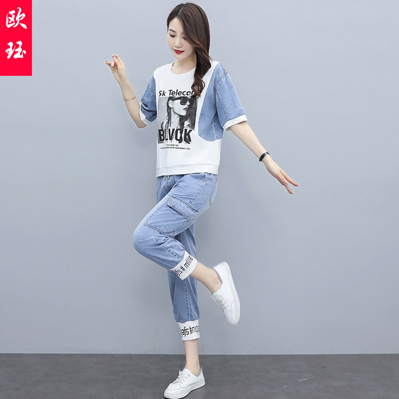 Leisure fashion suit womens western style age reduction in summer 2021
