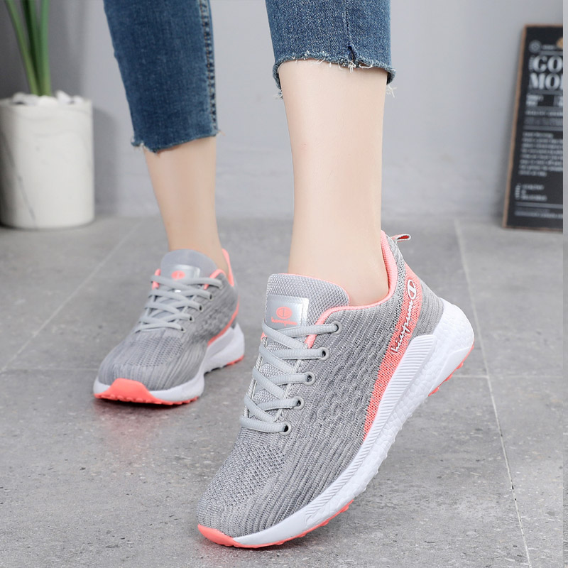 Enshi Nike 2021 spring and summer pink mesh shoes womens shoes sports shoes mesh breathable light running shoes casual shoes