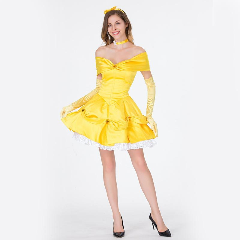 Halloween Costume Princess bell dress beauty and beast cos costume cosplay costume