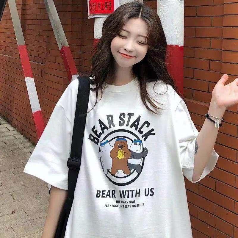 超火cec白色短袖t恤女学生2021新款韩版宽松衣服女ins上衣体恤衫