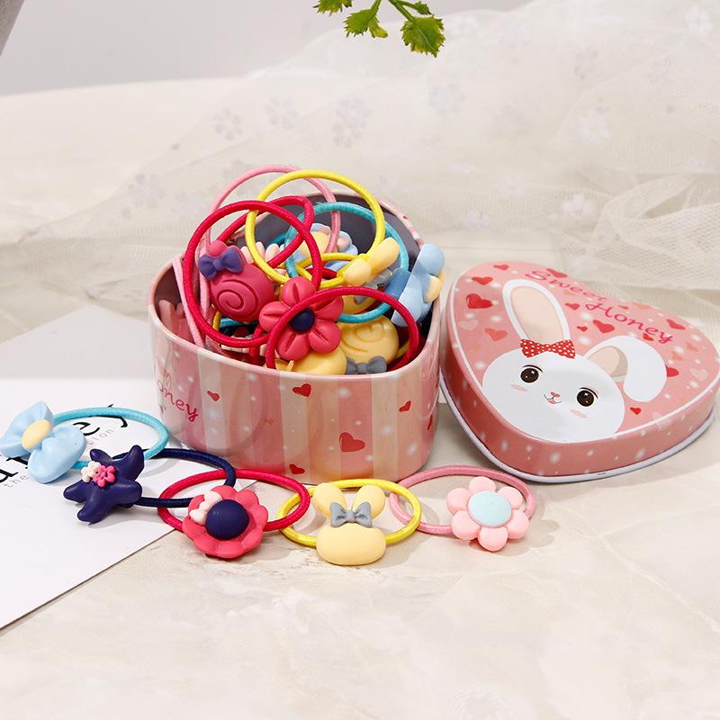 女童扎头发橡皮筋韩国儿童可爱彩色卡通头绳皮筋小女孩发绳发饰品