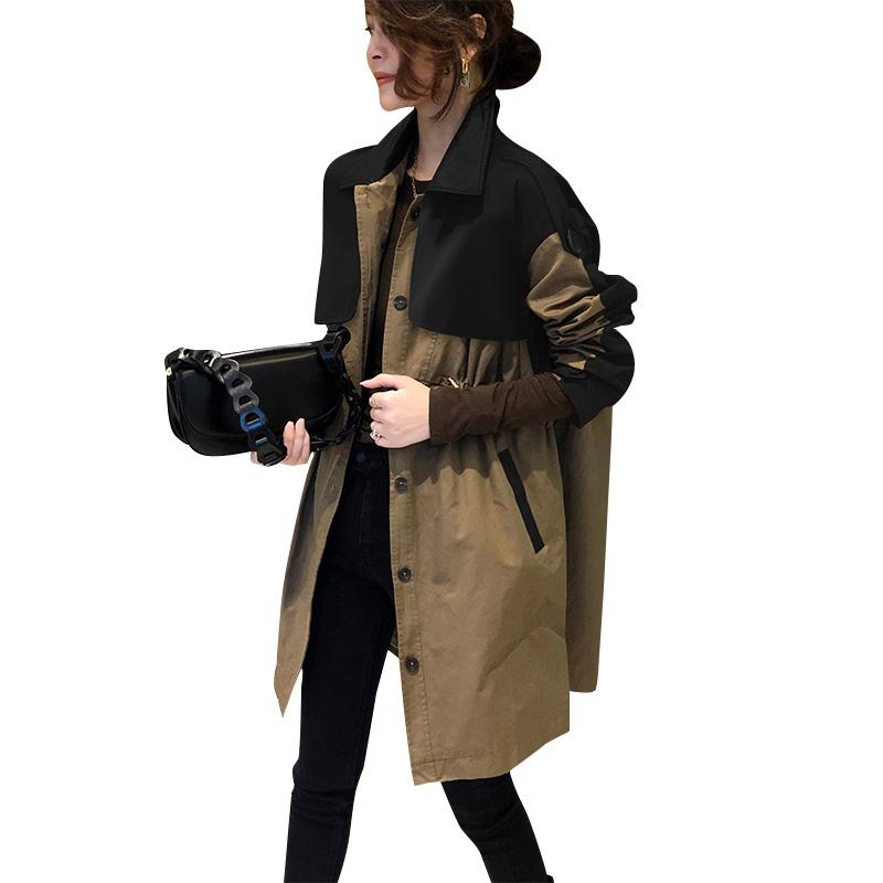 气质拼接中长款女宽松时尚春装风衣评价好不好?