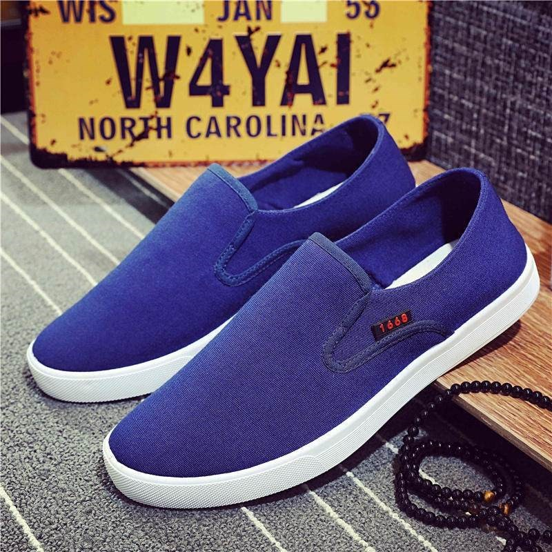 Canvas shoes mens board shoes summer and autumn casual shoes breathable lazy shoes cover feet odor proof soft soled student light shoes 52