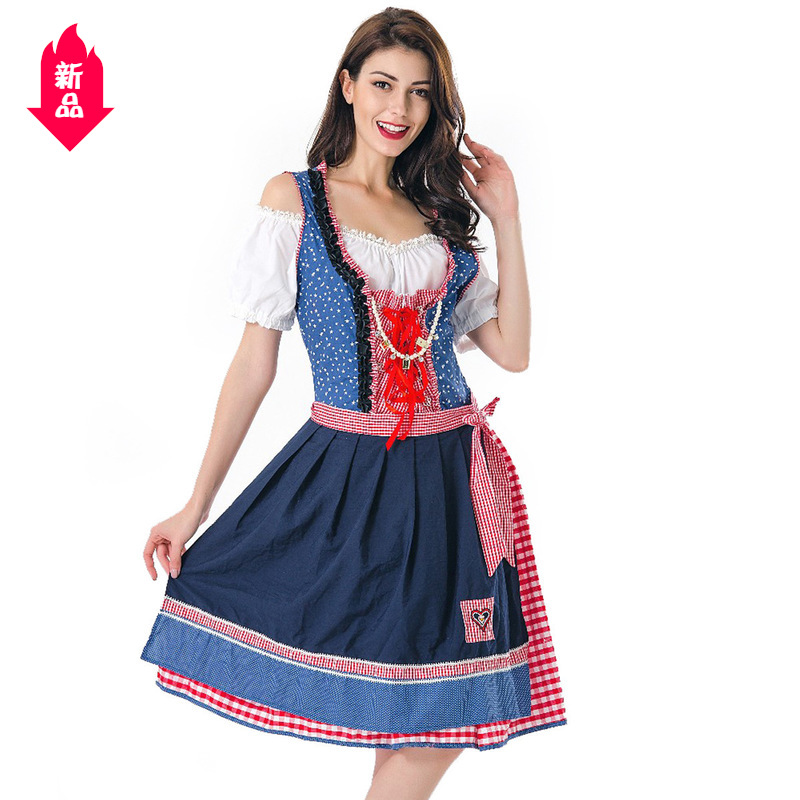 Bavaria Beer Festival costume Munich ethnic culture carnival costume maid cos performance costume A01