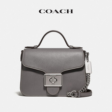 Coach / Cauchy women's Cassidy top handle messenger bag hemp grey
