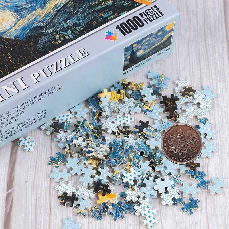 Deer pure white hell building block puzzle children puzzle girl boy toy 1000 pieces adult decompression