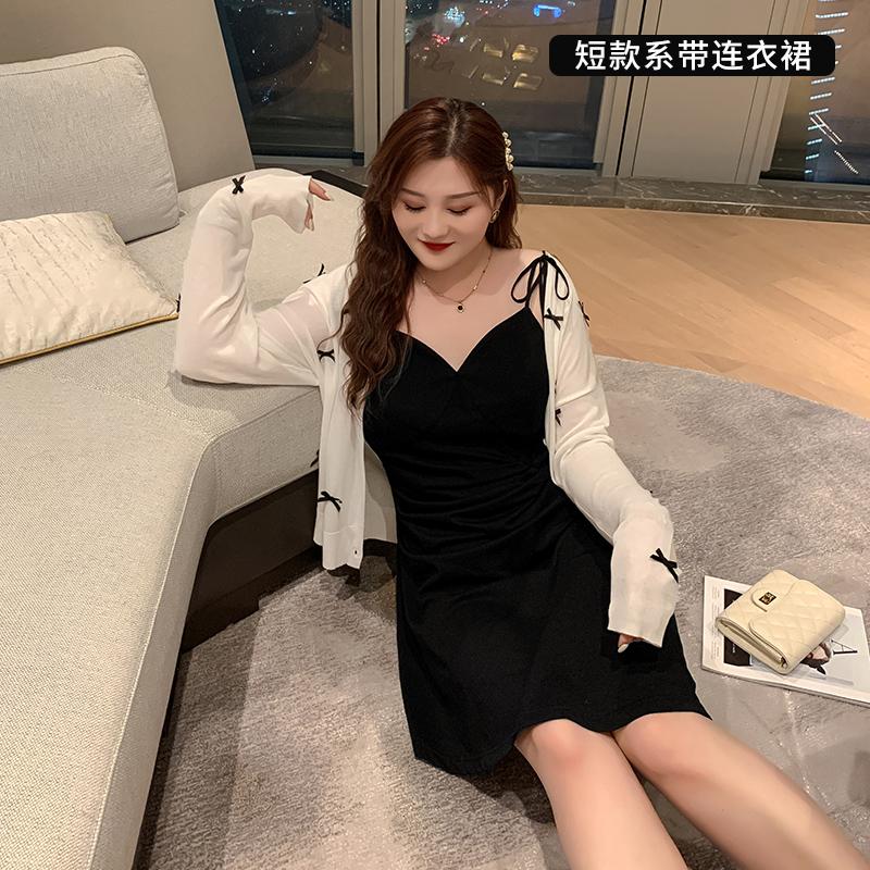胖佳佳大码吊带连衣裙女夏2020新款胖MM显瘦遮肚子性感V领长裙子