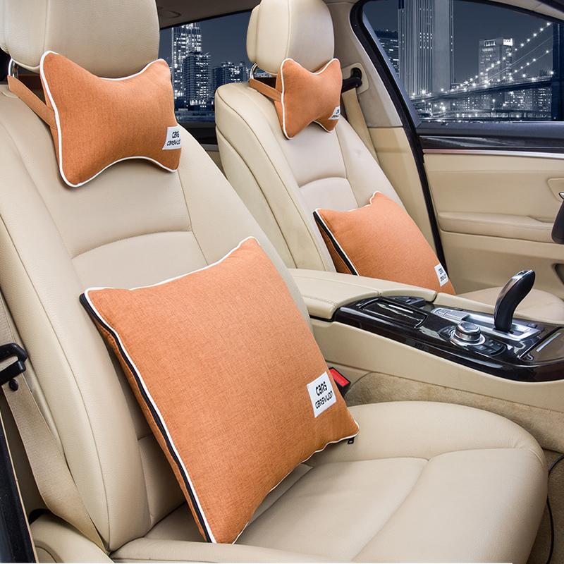抱枕被子两用车载多功汽车腰靠头枕靠垫车内能空调被一对车用靠背