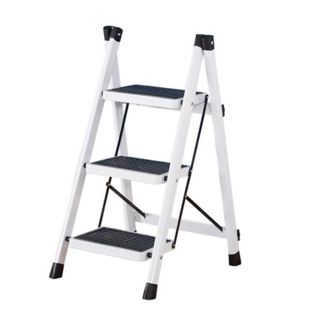 Small building dual-purpose Long Valley superposition convenience r carrying folding three step ladder ascending and descending stairs cabinet small bench herringbone