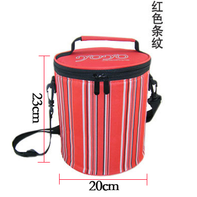 Round lunch box bag portable lunch bag large heat preservation bag aluminum foil thickened student rice heat preservation barrel bag round barrel cover