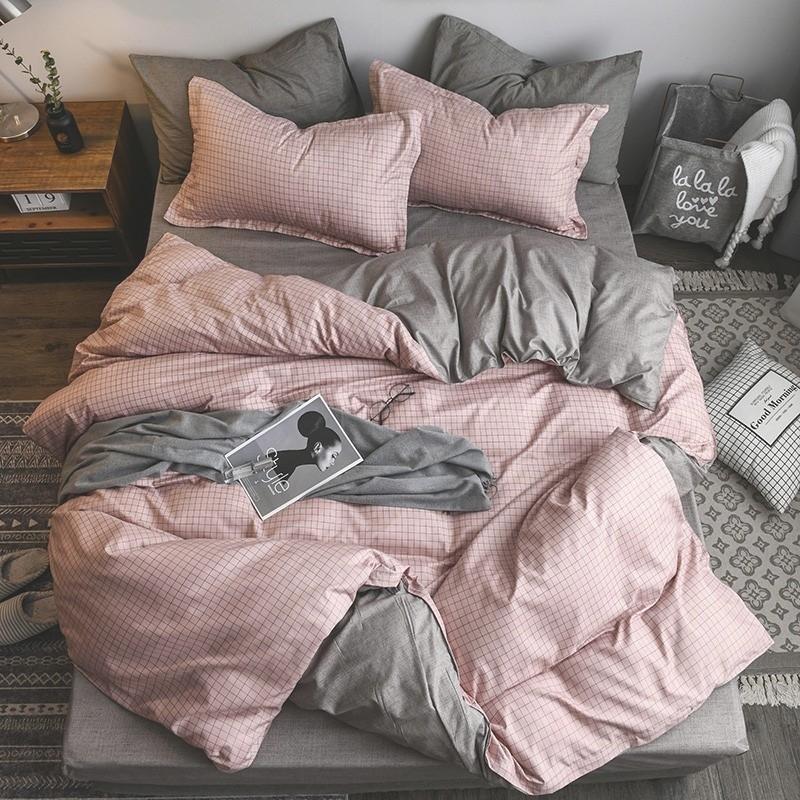 简约纯色四件套床上用品网红男女单人学生宿舍床单被套三件套被子