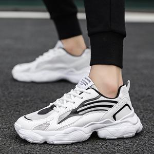 2019新款鞋透气学生男鞋休闲鞋子潮流网面老爹鞋增高跑步运动鞋男