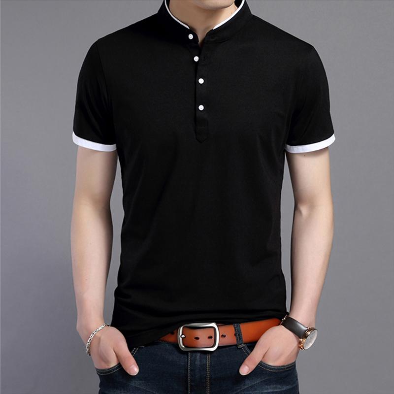 梵客隆夏季男士短袖t恤男立领纯棉 夏装体恤打底衫上衣POLO衫男装