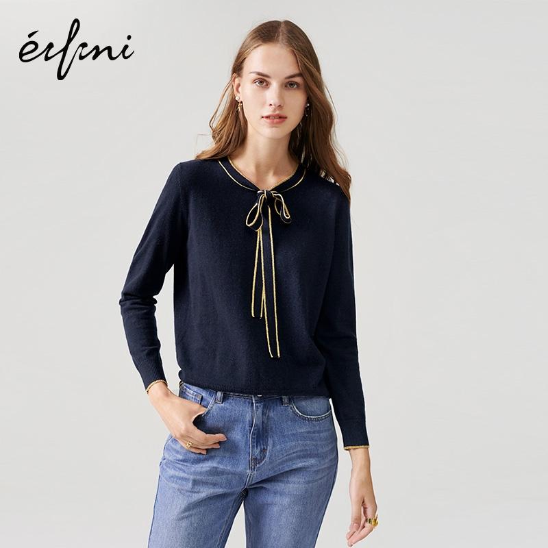 满124.70元可用1元优惠券伊芙丽女2019新款秋装羊毛针织衫