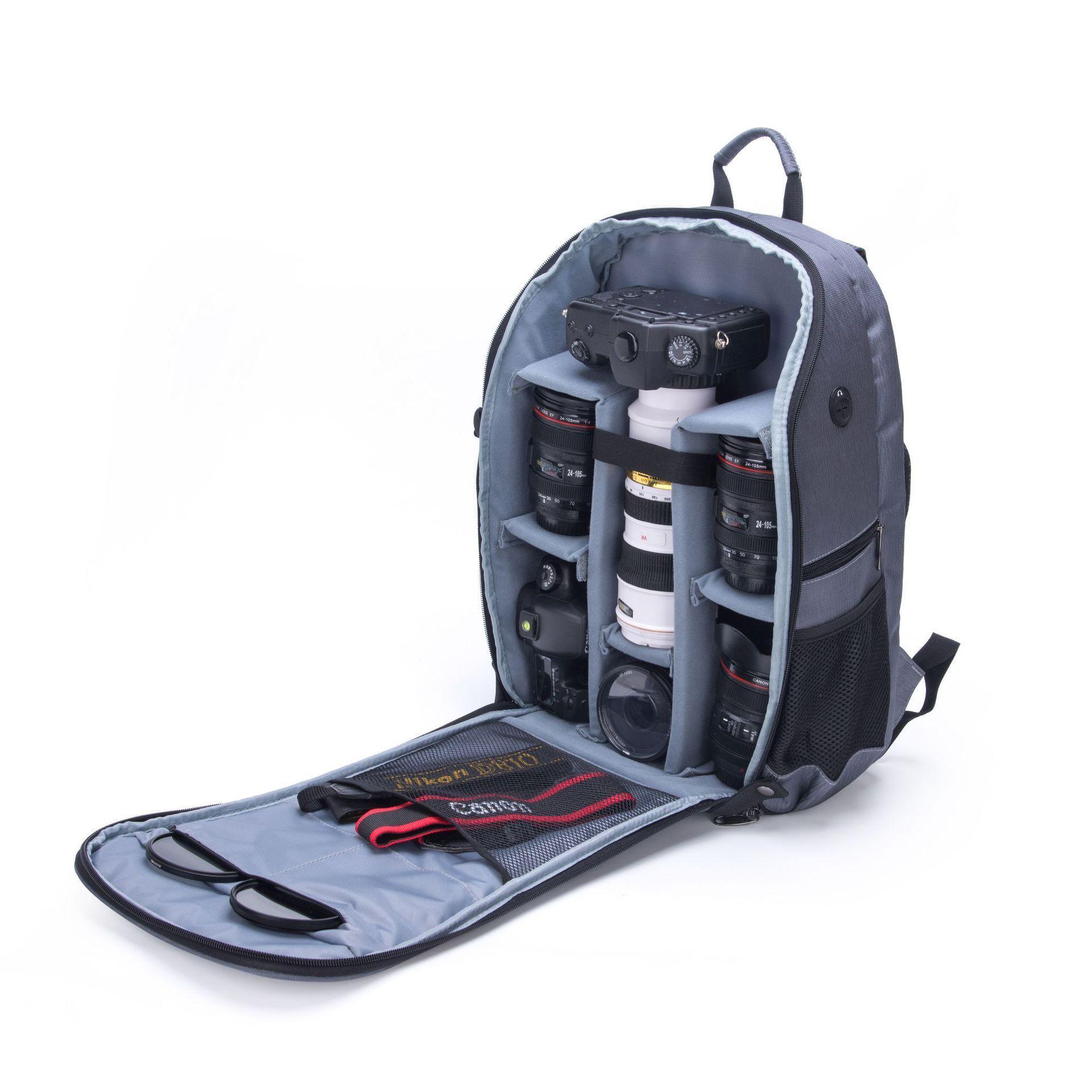 摄影电脑包时尚防水防盗背包双肩新款相机折叠户外数码。