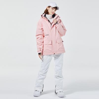 Ski suit women's suit snowboard suit suit winter outdoor windproof, waterproof and warmth thickened tooling ski suit